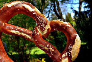 large pretzel in the park