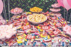 Huge stash of candy and chocolate