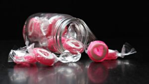 candy of candied love hearts
